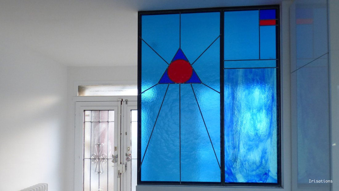 Interior design. Stained glass. Stained glass window.Contemporary design. Stained glass design. design Ysania peintures de lumiere. stained glass project. modern stained glass.contemporary stained glass. creation design. Decor home decor interior decoration.