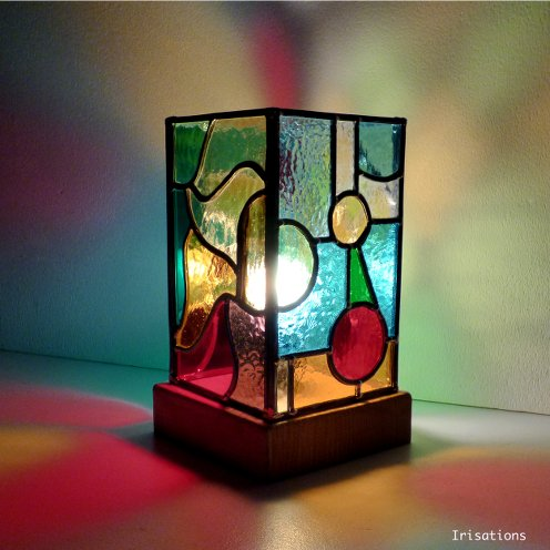 Personal project, table lamp. Stained glass workshop paris versailles france