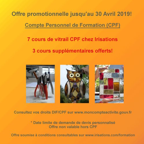Offre CPF vitrail